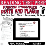 Paired Passages with Questions Poem Story CCSS ELA Test Prep PRACTICE TEST Death
