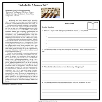 Common Core ELA Test Prep Structure: Japanese Tale (Informational Text)