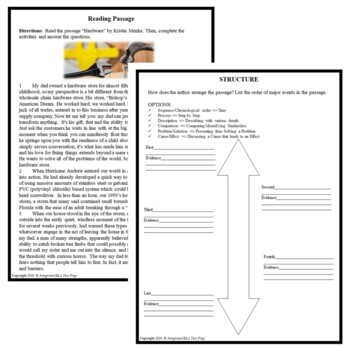 Common Core ELA Test Prep Structure Lesson: Hardware (Narrative)