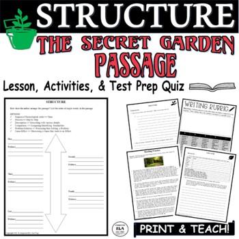 Common Core ELA Test Prep Structure Lesson:  The Secret Garden (Fiction)