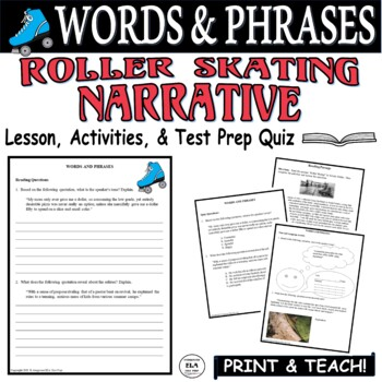 Common Core ELA Test Prep Words & Phrases Lesson: Roller Skating (Narrative)