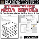 Common Core ELA Reading Test Prep Structure BUNDLE 18 Lessons/Quizzes/Activities