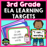 "Third Grade Common Core ""I Can"" Display Posters- ELA"