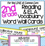 Reading & ELA Vocabulary Cards for 2nd Grade {Common Core}