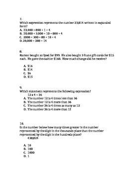 Common Core Grade 4 Math NYS Test Prep