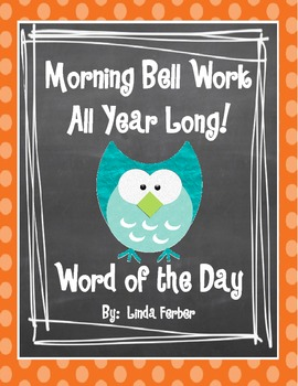 Common Core ELA aligned Morning Bell Work - Word of the Day