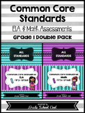 Common Core ELA and Math Assessments Grade 1 (DOUBLE PACK)