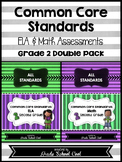 Common Core ELA and Math Assessments Grade 2 (DOUBLE PACK)