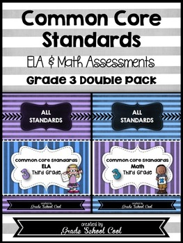 Common Core ELA and Math Assessments Grade 3 (DOUBLE PACK)