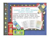 Common Core ELA and Math Checklist Combo (First Grade)