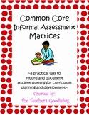 Common Core ELA and Math Informal Assessment Matrix