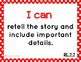 """Common Core ELA and Math Kid Friendly """"I Can"""" Statements 2"""