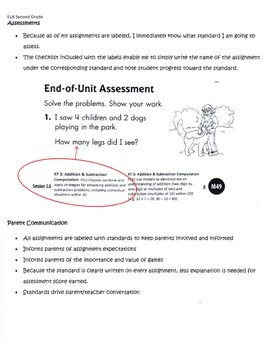 Common Core ELA and Math Labels for Sixth Grade