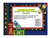 Common Core ELA and Math Student Checklist (Kindergarten)