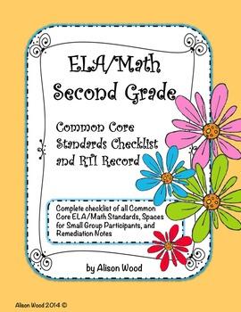 Common Core ELA/Math Standards and RTI Checklist Second Grade