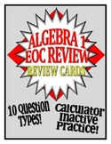 Common Core EOC Review Cards for Algebra I/Integrated I