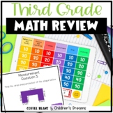 End of Year Math Review Game for Third Grade Test Prep