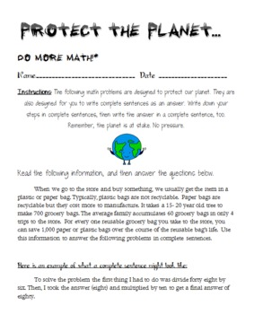 Earth Day Printables: Common Core reading, writing, and math activities