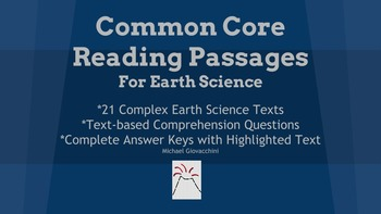 Common Core Earth Science Readings +Text-Based Questions