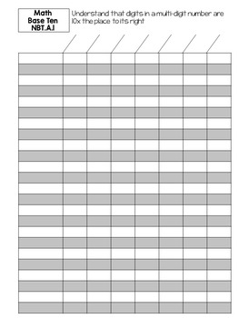 Editable Standards Based Gradebook MATH ONLY - Grade 4
