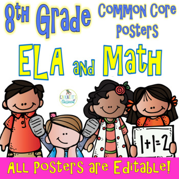 Common Core Eighth Grade ELA and Math Posters-- Melonheadz Edition