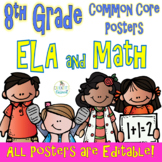 Common Core Eighth Grade ELA and Math Posters-- Melonheadz