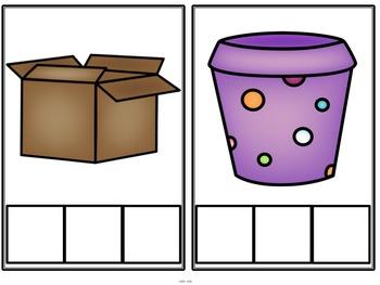 Elkonin Sound Boxes for CVC Blending - Picture Cards Set 2