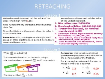 2012 Common Core EnVision Math Fifth Grade Topic 1 Review PowerPoint