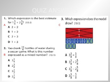 Common Core EnVision Math Fifth Grade Topic 10 Review PowerPoint