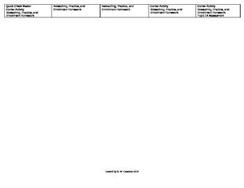 2012 Common Core EnVision Math Fifth Grade Topic 14 Unit Plan - Data
