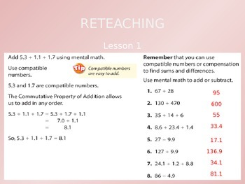 Common Core EnVision Math Fifth Grade Topic 2 Review PowerPoint