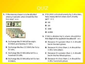 2012 Common Core EnVision Math Fifth Grade Topic 4 Review PowerPoint