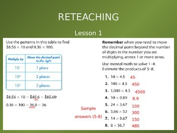 2012 Common Core EnVision Math Fifth Grade Topic 6 Review PowerPoint