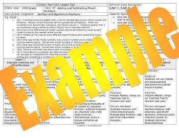 2012 Common Core EnVision Math Fifth Grade Unit Plan Bundle for Topics 1-16