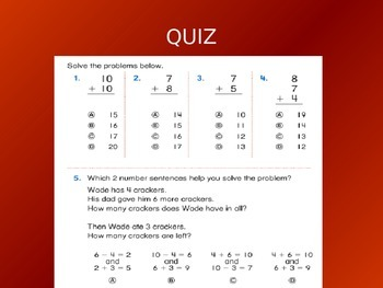Common Core EnVision Math First Grade Topic 5 Review PowerPoint