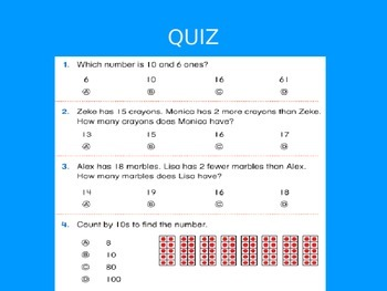 Common Core EnVision Math First Grade Topic 7 Review PowerPoint