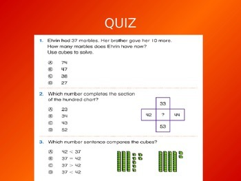 Common Core EnVision Math First Grade Topic 9 Review PowerPoint
