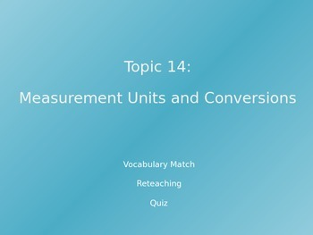 Common Core EnVision Math Fourth Grade Topic 14 Review PowerPoint