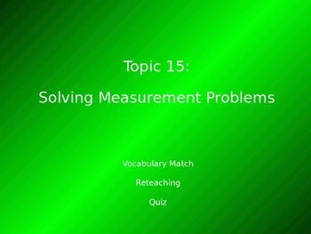 2012 Common Core EnVision Math Fourth Grade Topic 15 Review PowerPoint