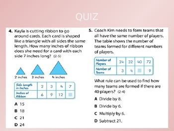2012 Common Core EnVision Math Fourth Grade Topic 2 Review PowerPoint