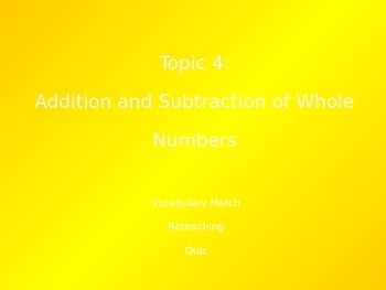 Common Core EnVision Math Fourth Grade Topic 4 Review PowerPoint