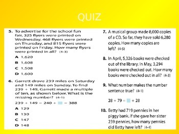 2012 Common Core EnVision Math Fourth Grade Topic 4 Review PowerPoint