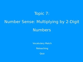 2012 Common Core EnVision Math Fourth Grade Topic 7 Review PowerPoint