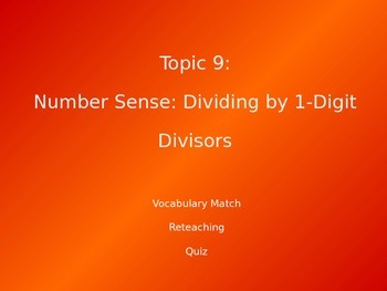 Common Core EnVision Math Fourth Grade Topic 9 Review PowerPoint