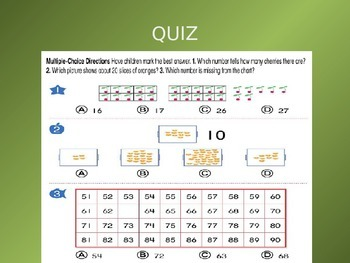 Common Core EnVision Math Kindergarten Topic 6 Review PowerPoint