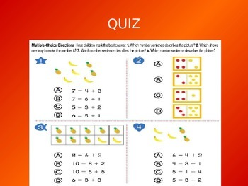 Common Core EnVision Math Kindergarten Topic 9 Review PowerPoint