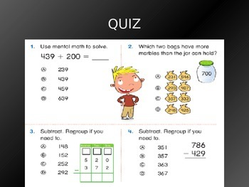 Common Core EnVision Math Second Grade Topic 11 Review PowerPoint