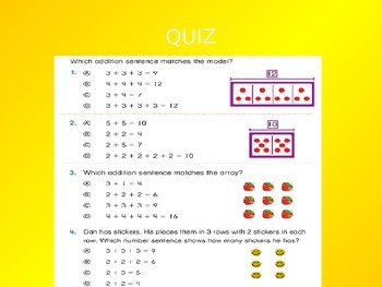 Common Core EnVision Math Second Grade Topic 4 Review PowerPoint
