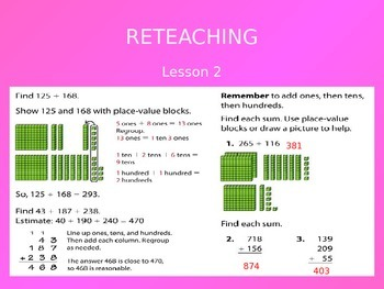2012 Common Core EnVision Math Third Grade Topic 3 Review PowerPoint