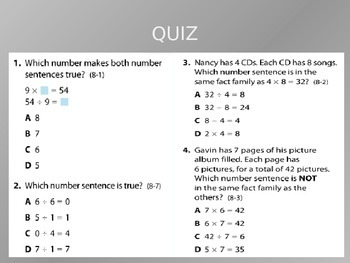 Common Core EnVision Math Third Grade Topic 8 Review PowerPoint